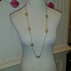 Woman's gold necklace